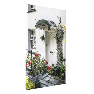 白いドア キャンバスプリント