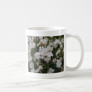 白いナデシコ コーヒーマグカップ
