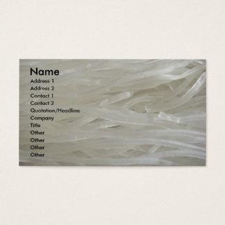 白いヌードル 名刺