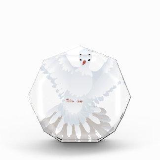 白いハト絵2 表彰盾