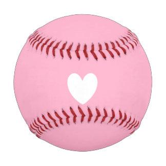 白いハートの野球 野球ボール
