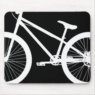 白いバイクのシルエットのカスタム色 マウスパッド