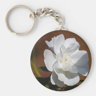白いバラおよび意味 キーホルダー