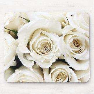 白いバラのマウスパッド マウスパッド