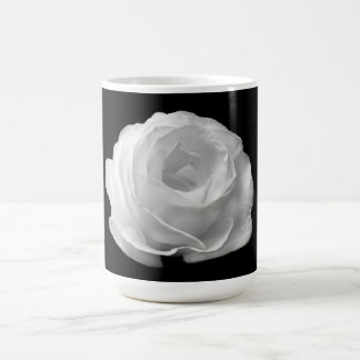 白いバラのマグ コーヒーマグカップ