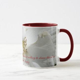 白いバラのマグ マグカップ