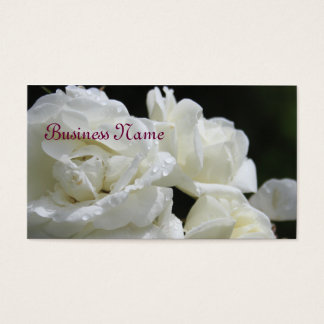 白いバラの名刺 名刺