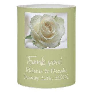 白いバラの結婚式の引き出物 LEDキャンドル