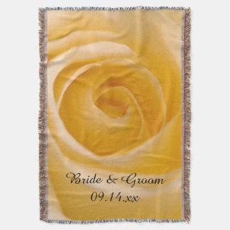 白いバラの花の結婚式 スローブランケット