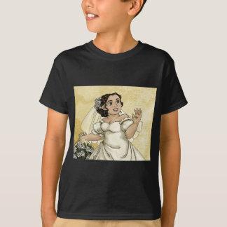 白いバラの花嫁 Tシャツ