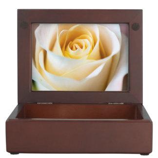 白いバラの記念品箱 ジュエリーボックス