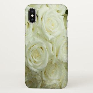 白いバラのiPhoneX iPhone X ケース