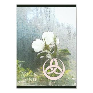白いバラのTriquetra野生のHandfastingの垂直 カード