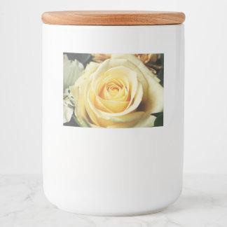 白いバラを離れて豪華 フードラベル