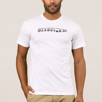 白いバランスの黒 Tシャツ