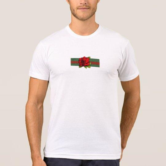 白いバラ箱のロゴのワイシャツ Tシャツ