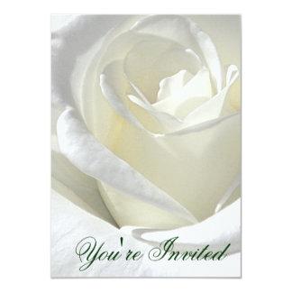 白いバラ、あなたはInved_の招待状 カード
