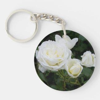 白いバラ キーホルダー