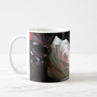 白いバラ- コーヒーマグカップ