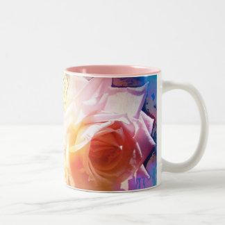 白いバラ ツートーンマグカップ