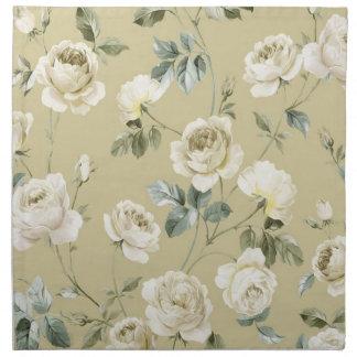 白いバラ ナプキンクロス