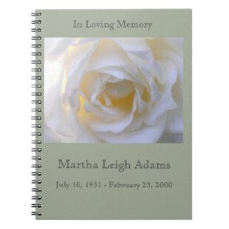白いバラ ノートブック