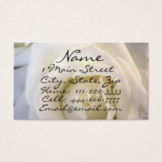白いバラ、プロフィールカード 名刺