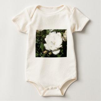白いバラ ベビーボディスーツ