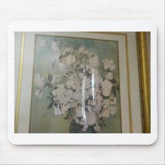 白いバラ マウスパッド