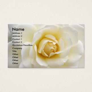 白いバラ 名刺