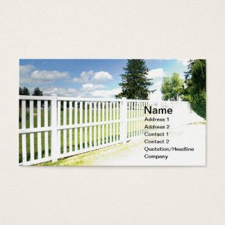 白いビニールの塀 名刺