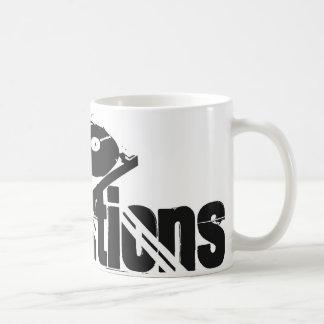 白いビニールの革命のマグ コーヒーマグカップ