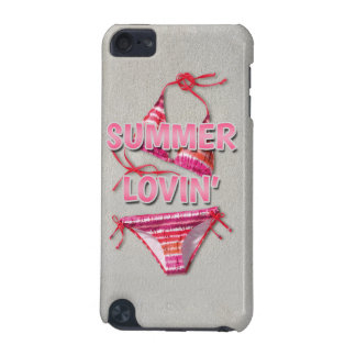 白いビーチの砂の夏のLovinのピンクのビキニ iPod Touch 5G ケース