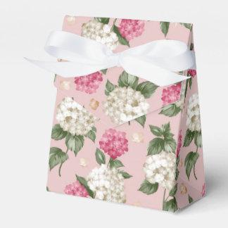 白いピンクのアジサイの花の継ぎ目が無いパターン フェイバーボックス