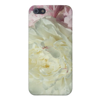 白いピンクのシャクヤクのシャクヤクのIphone 4の携帯電話の箱 iPhone 5 カバー