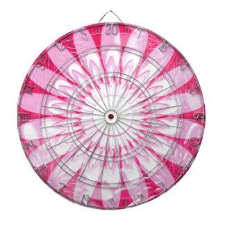 白いピンクの車輪のチャクラの曼荼羅の装飾のギフト ダーツボード