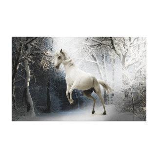 白いファンタジーの馬 キャンバスプリント