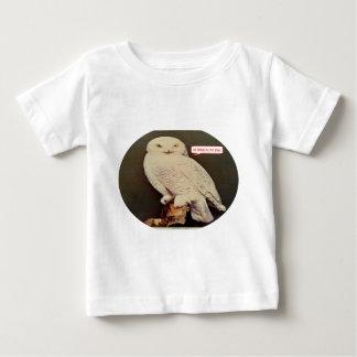 白いフクロウのスケッチ ベビーTシャツ