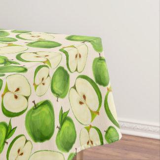 白いフルーツを離れたの緑のりんご テーブルクロス