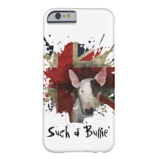 白いブルテリアの英国国旗のiPhone 6/6sの箱 Barely There iPhone 6 ケース