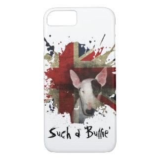 白いブルテリアの英国国旗のiPhone 7の箱 iPhone 8/7ケース