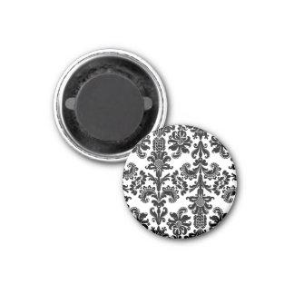 白いブロケードの黒 マグネット