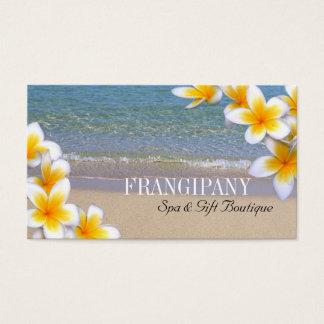 白いプルメリアのビーチのスパリゾートのブティックB&B 名刺