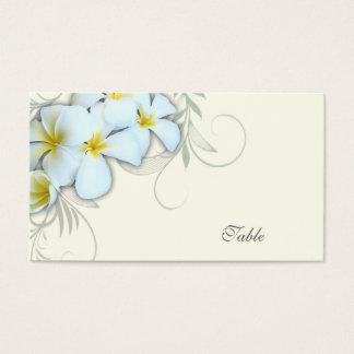 白いプルメリアの空白のな護衛カード 名刺