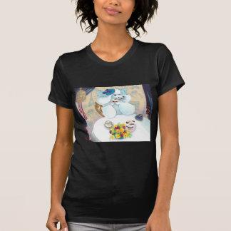白いプードルのお茶会 Tシャツ