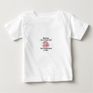 白いベビーのTシャツ単語2歳の好みの ベビーTシャツ