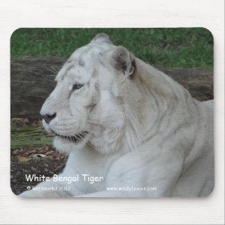 白いベンガルトラ マウスパッド