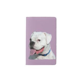 白いボクサー犬 ポケットMoleskineノートブック