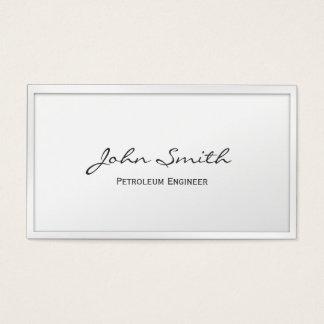 白いボーダー石油エンジニアの名刺 名刺
