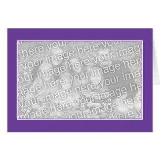 白いボーダー(写真フレーム)との紫色 カード